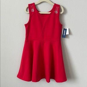 NWT Old Navy Rhinestone Red Dress Size XS